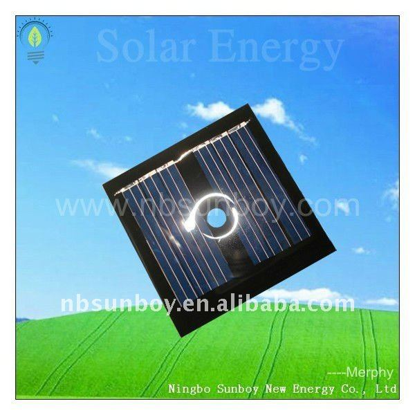 50*50mm 3V 80mA mini size solar panel with a middle hole