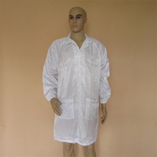 Best price 5mm Stripped customized colorfull Cleanroom ESD smock