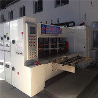 High speed flexo printing & slotting &rotary die cutter/corrugated box making line