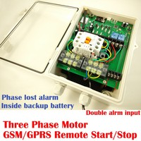 GSM three phase power supply controller for motor ,water pump