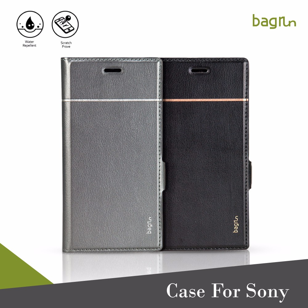 Luxury Smartphone Leather Cover For Sony Xperia XZ Premium