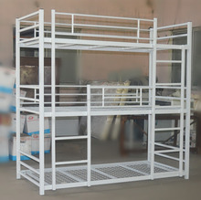 modern design strong kids adult white single cheap steady metal bunk beds for hostels
