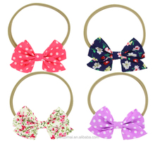 Sweety Baby Girls Printed Little Bow Stretch Headwear Infant Toddler Nylon Elastic Headbands