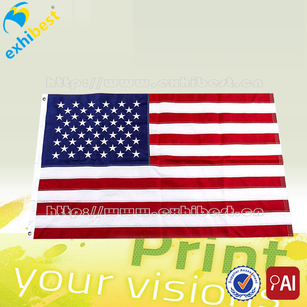 USA flag factory supply United States Country flag American Flag with eyelets/rings