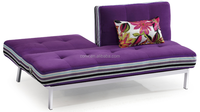 Purple Fabric Stainless Steel Sofa Bed sitting room furniture