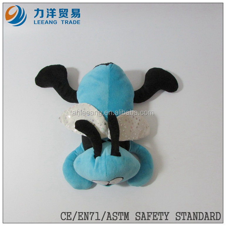 plush birds/flying animals/light blue bee, Customised toys,CE/ASTM safety stardard