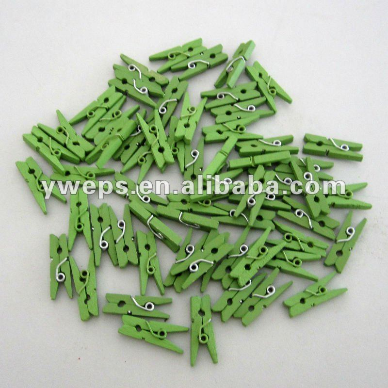 25mm Colorful Wooden Clips