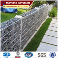 Anping factory rock welded gabion/stone welded gabion retaining wall