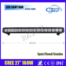"Wholesale 27"" 160w led offroad light bar single row off road truck led light bar 27 inch"