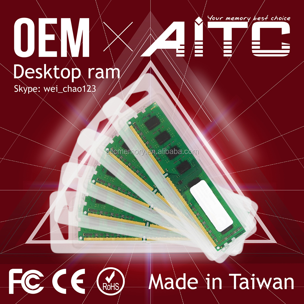 Hot Sale AITC 4gb 8gb 16gb ddr2 ddr3 ddr4 for desktop ram pack ddr memory oem service