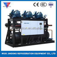air cooled chiller water cooled chiller HANBELL middle temperature screw compressor racks condenser unit