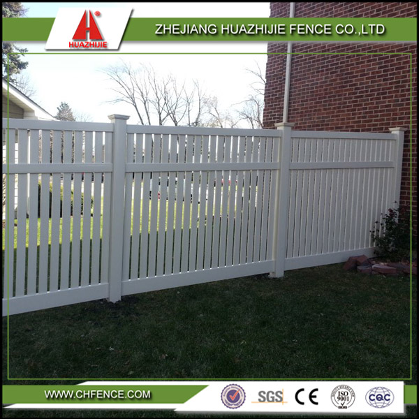 vinyl pvc types of used safety privacy fence