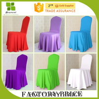 Hot Selling White Pleated Chair Cover