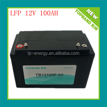 High quality 12v 100Ah LiFePO4 pack for energy storage,solar system TB-12100F(ex works price)