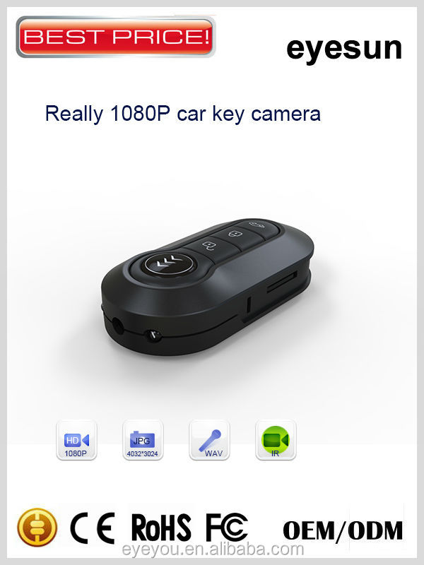 Multi-function Car Key Camera,Night Vision Spy Camera Car Key,1080P FHD Car Key Hidden Camera