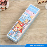 beautiful Double plastic pencil case With cute ears two layers for kids DMS033