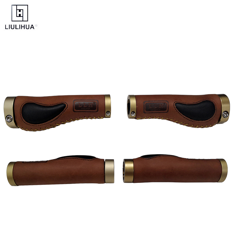 Factory custom Leather and Aluminum alloy Material and bicycle grips Item name bike handlebar
