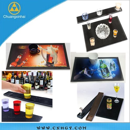 Christmas New year Drink Mats Novelty Bar manufactured in China