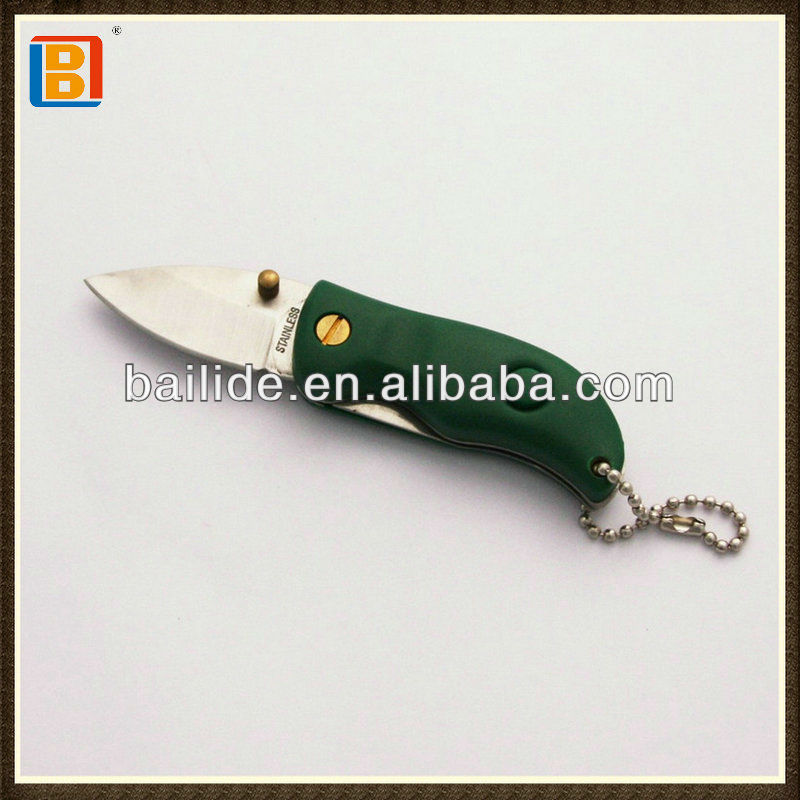 2017 Hot Selling Stainless Steel Mini Hunting Folding Pocket Hunting Knife With Led Light