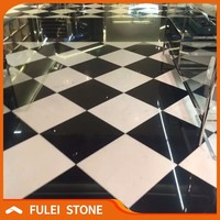 Black and white marble floor design tile for hotel lobby