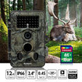 Trail Camera Cam Hunting Scout Night Vision 12MP HD Waterproof Low Glow Security