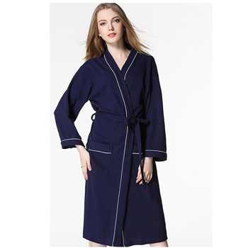 Simple embroidery pure color hotel bath robe
