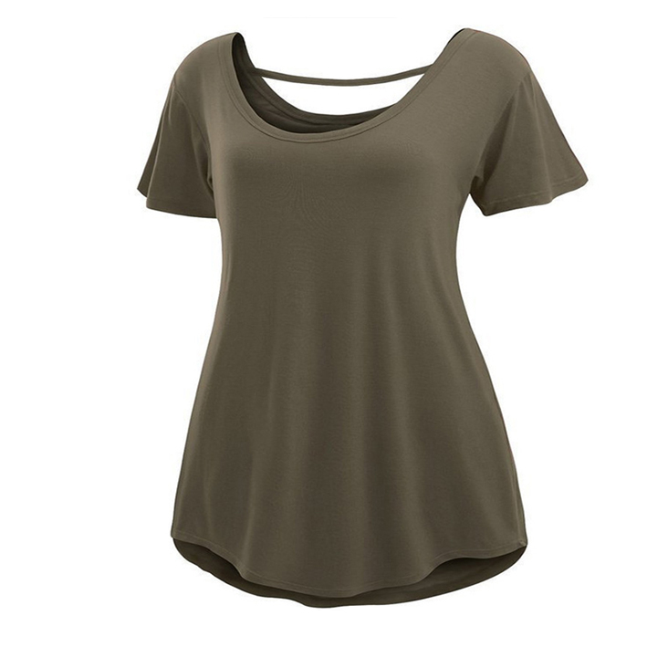 Solid short sleeve ladies new stylish casual women tops and blouses