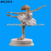 Resin ballet dancer figurine