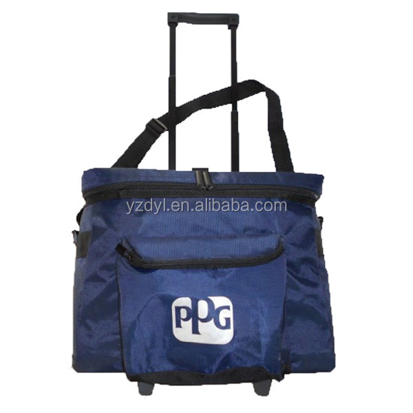Cheap trolley cooler bag with wheels
