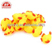 yellow red soft plastic squeeze screaming chicken toy for kids