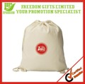 Promotional Customized Cotton Drawstring Backpack