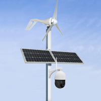 Solar 4G LTE 3G WCDMA Wireless Security CCTV Camera with Wind Hybrid Power System