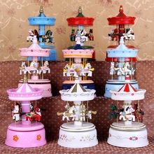 Christmas crafts Christmas decorative merry-go-round music box
