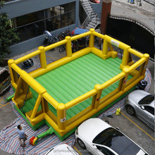 Commercial Inflatable Football Court Inflatable Soap Soccer Field For Sale
