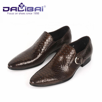 Black Brown Dress Shoes Men With Monk Strap