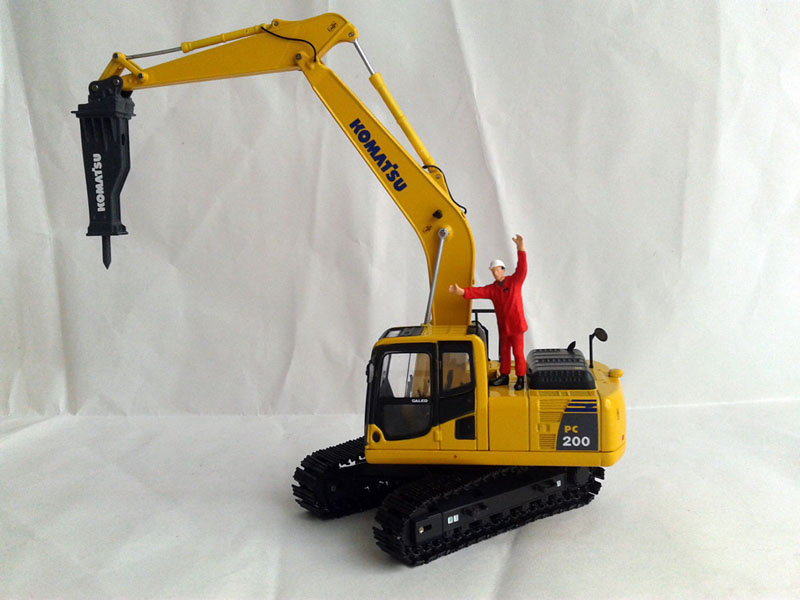 scale model water well drilling hammer 1/35 diecast drilling hammer for display