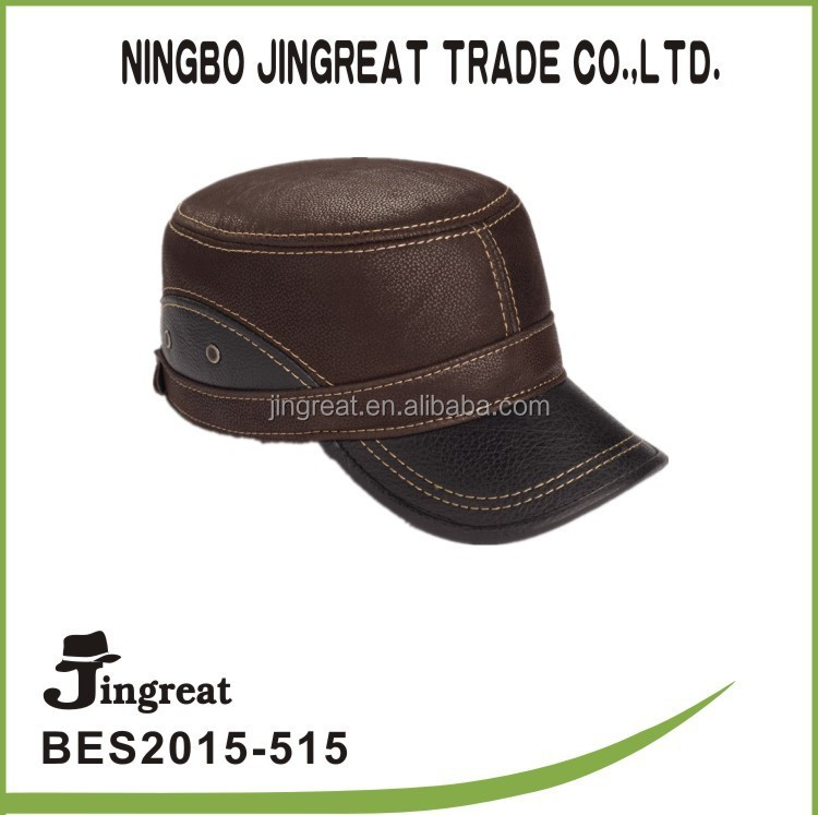 leather strap snapback hat end cap for leather cord can be adjustable