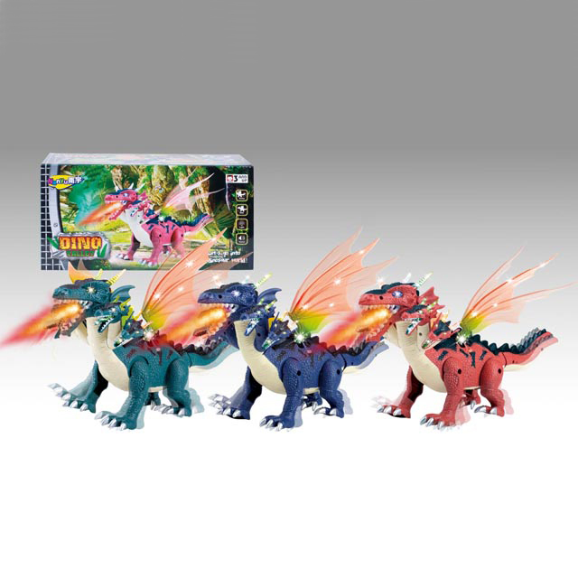 2017 Wholesale Electronic 5-Heads Dinosaur Toy <strong>w</strong>/Lights Sounds & Walking Action