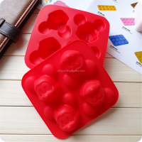 Mobile Sky Silicone 4-Cavity Mickey Mouse Cake Mold