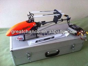 Aluminium Helicopter Case with hold 450 V2 Flybarless