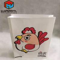 Guangzhou flat bottom wax packing fried chicken grease proof paper bag