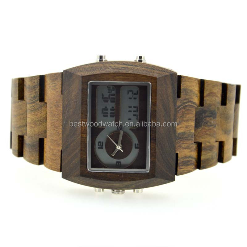 2017 fashion trendy top wood watch bamboo , custom logo bamboo wood watch, double <strong>date</strong>