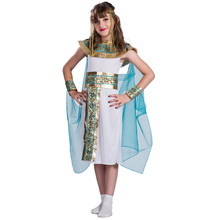 Children kids cosplay Costume girls carnival party Egyptian Queen dress costumes