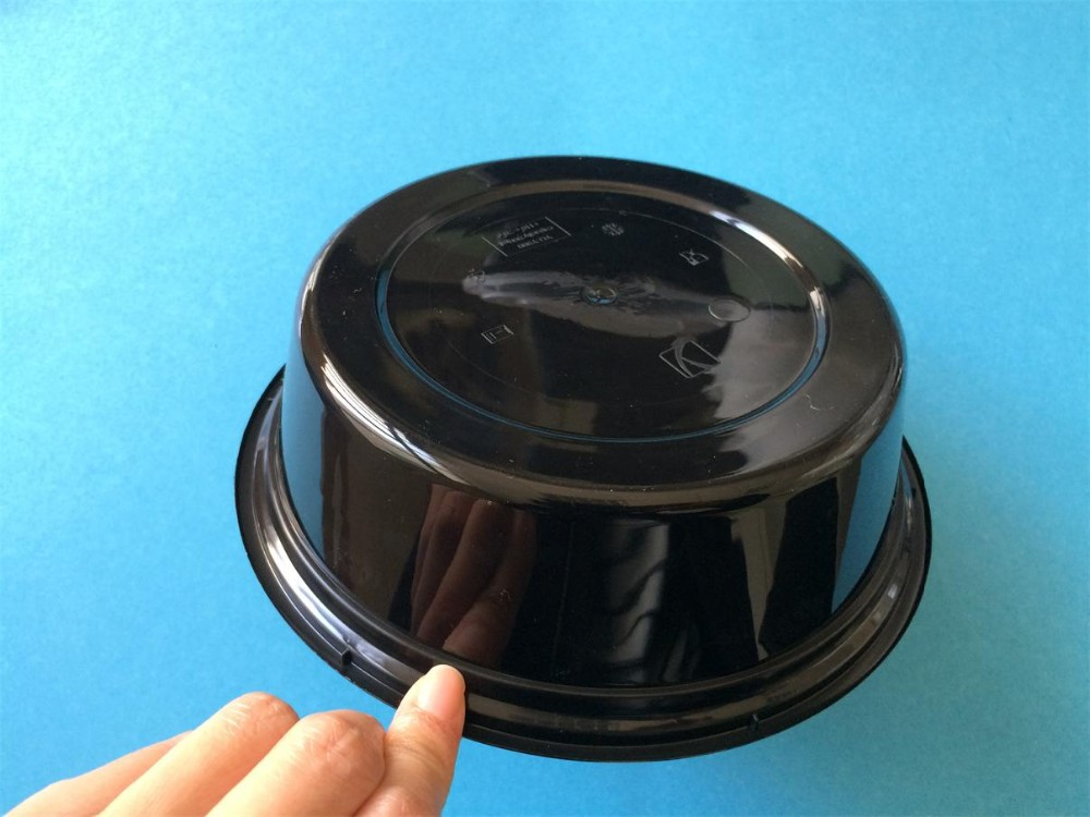 Black Round Plastic Takeout Lunch Food Containers