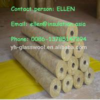 high quality rock wool raw material steam steel insulation pipe for heat systems