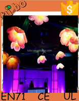 helium hanging led inflatable light flower balloon