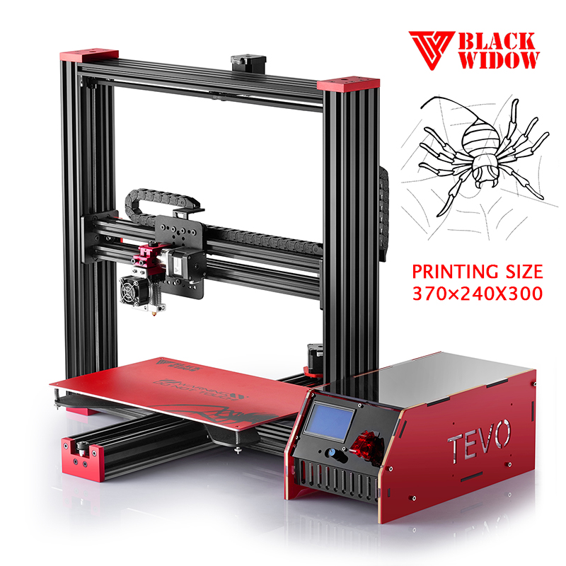 2017 TEVO Black Widow impresora 3d Printer professional diy mini 3d printer machine, FDM 3d printer
