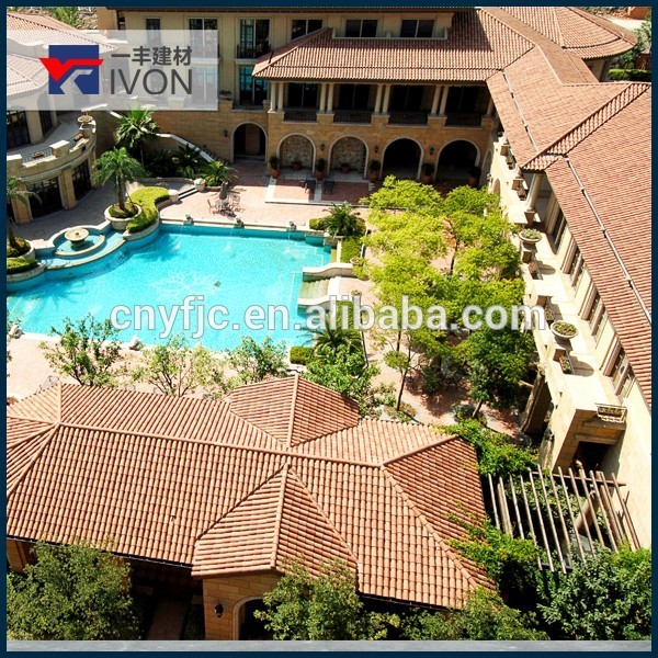 IVON Cheap tile natural red clay roof tiles made in china