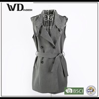 Woman dress fashion, formal sleeveless jacket for women