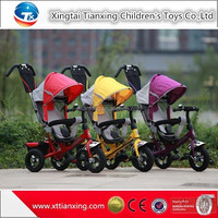 Child Three Wheel Bike ,4-in-1 Rubber Tyre Baby Tricycle For 1-5 years old